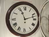 "12"" Fusee Movement Mahogany Dial Wall Clock"