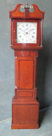Oak & Mahogany Longcase Clock By Samual Fletcher of Cambridge