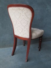 Set Of 8 Mahogany Buttoned Back and Seat Dining Chairs