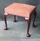 A Mahogany Claw and Ball Cabriole Leg Stool