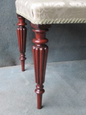 A Pair of Rosewood Reeded Leg Stools PRICED PER STOOL