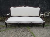 English Made French Influence Sofa in Dense Cuban Mahogany