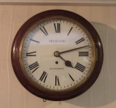 "10"" Dial fusee Clock by Hewitt Of London"