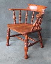 elm and beech smokers bow chair