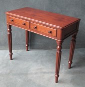 A Victorian Mahogany Reeded Leg Side Table