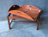 An Mahogany Butlers Tray with Folding Sides