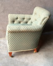 A Victorian Buttoned back and Arms Easy Chair