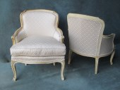 Pair Of Louis XV Style Painted Armchairs