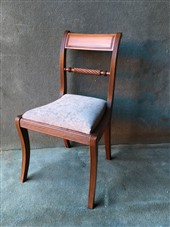 A set of 4 late Georgian Rope Twist Dining Chairs