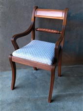 A late Georgian Rope Twist Arm Chair