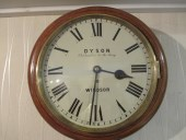 "Oak Cased 12"" Dial Clock by Dyson Of Windsor"