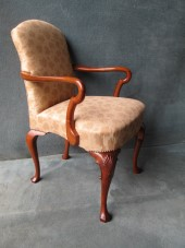 Queen Anne Style Desk Chair In Walnut