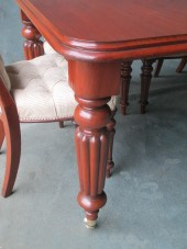 A Large Victorian Mahogany Wind-out Dining Table