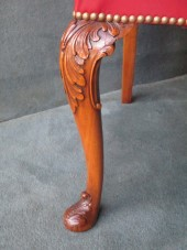 Cabriole Leg Desk Arm Chair In Mahogany