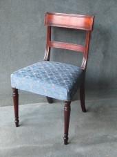 A Set of 6 Late Georgian Bar Back Dining Chairs