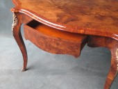 French Burr Walnut Centre Table