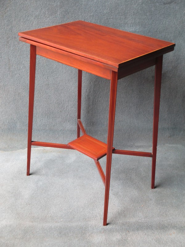 A Small Fold-over Card Table