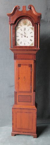 OAK & MAHOGANY LONGCASE CLOCK BY JOHN PEARCE OF STRATFORD