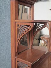 satinwood etagere whatnot display cabinet shelves